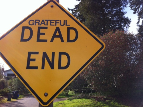 This is my favorite Eugene street sign. Hey, at least it's a town with a sense of humor.